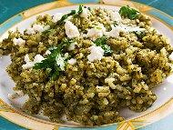 Рецепта Предястие с ориз, спанак и кисело мляко